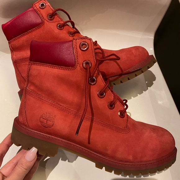 Red Timberland Boots